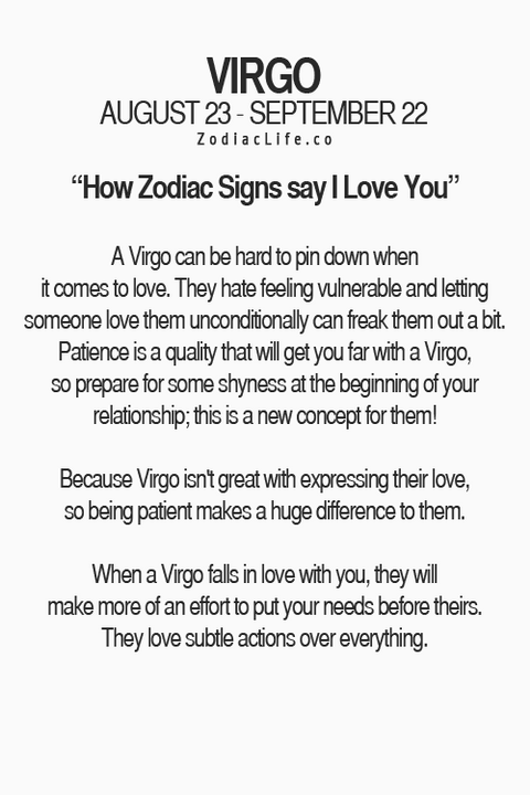 Signs a virgo loves you