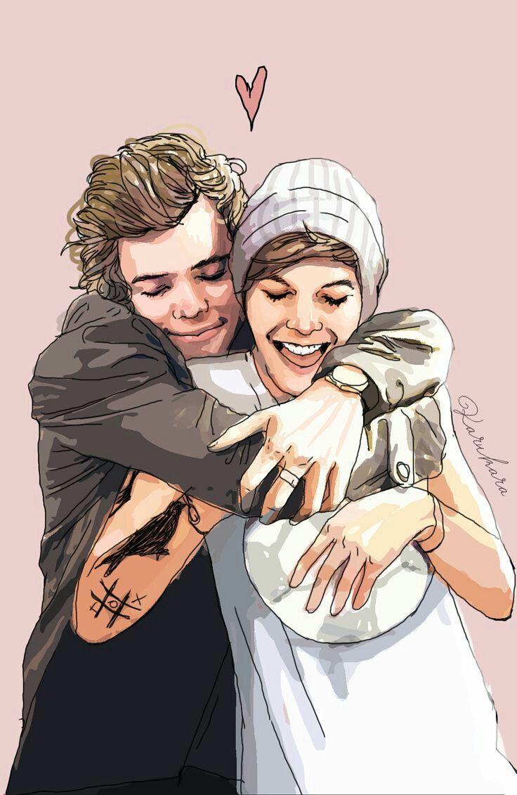 """""""menção de @thelouisfactor: Olha que lindo seria se @Harry_Styles e @Louis_Tomlinson fossem um casal! Uma gracinha"""""""