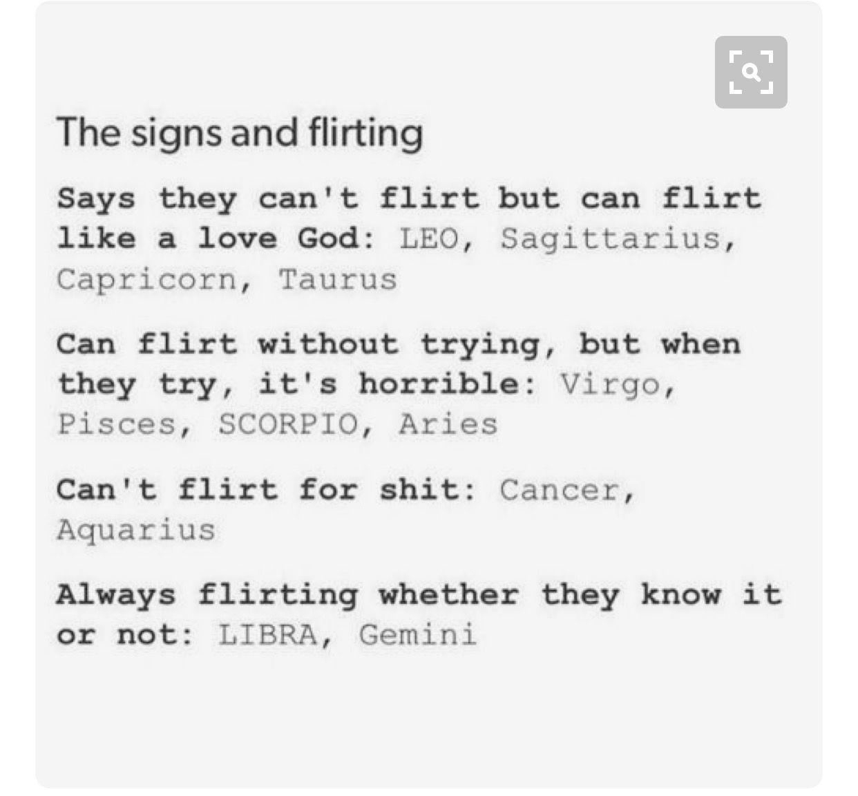 flirting signs: