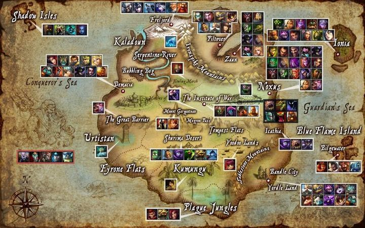 The Journey of Light (An Ezreal x Lux Fanfiction)[League of ... on diablo 3 world map, pokemon mystery dungeon world map, lol map, concept art world map, treasure map,