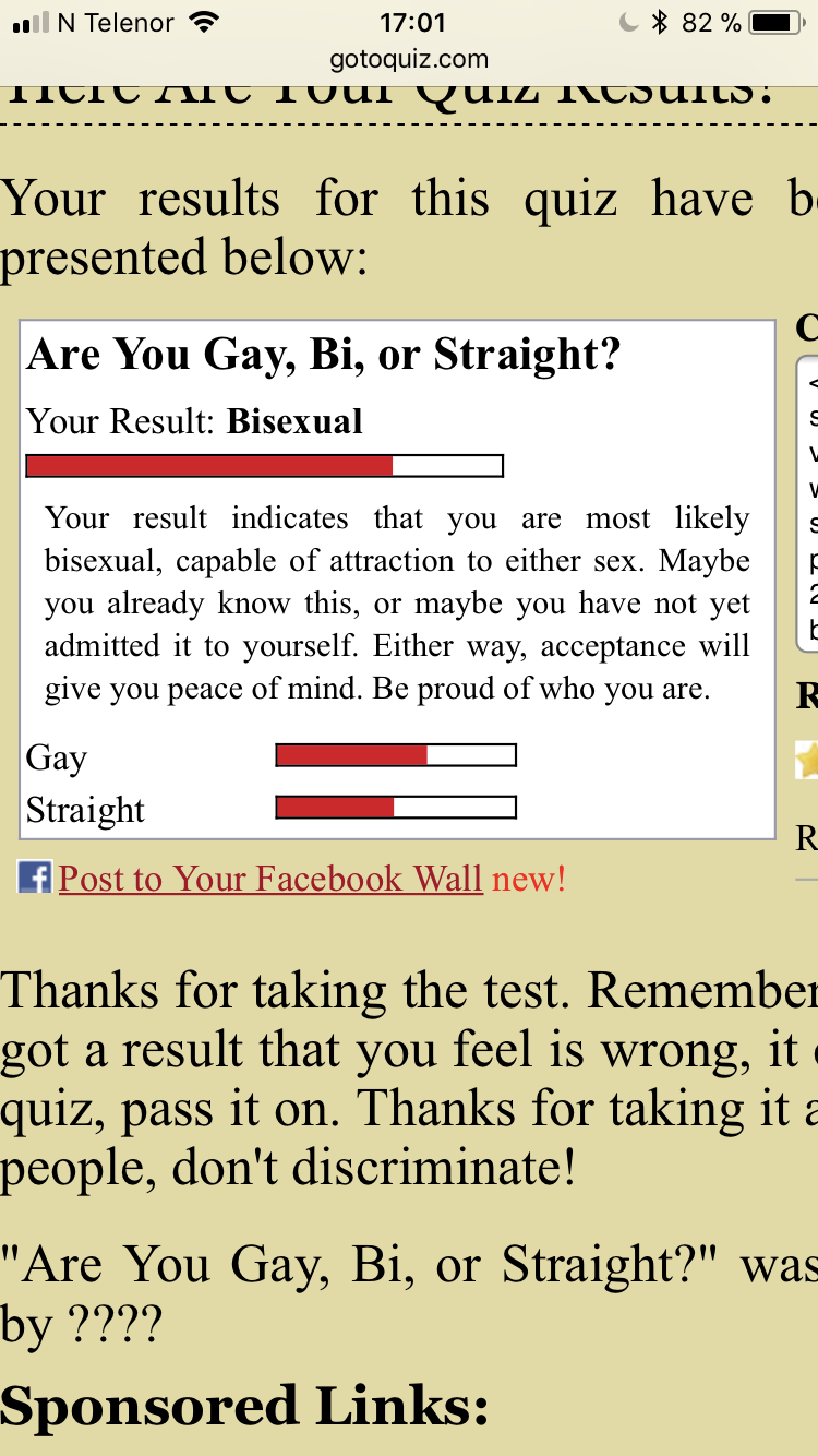 Gay bisexual or straight quiz