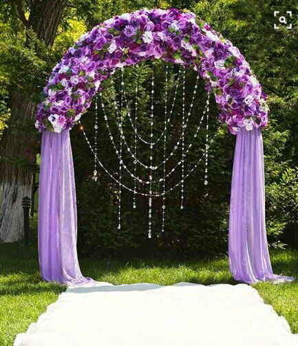 It was time for the wedding to start so we walked out to the flower arch