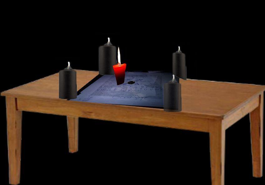 """Como se indica en la imágen debéis de poner cada vela negra en cada """"si"""" y en cada """"no"""" en las esquinas de esta forma:"""