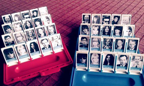 Someone made a Beatles Guess Who game and it's so awesome!!! I would love to do this!!!