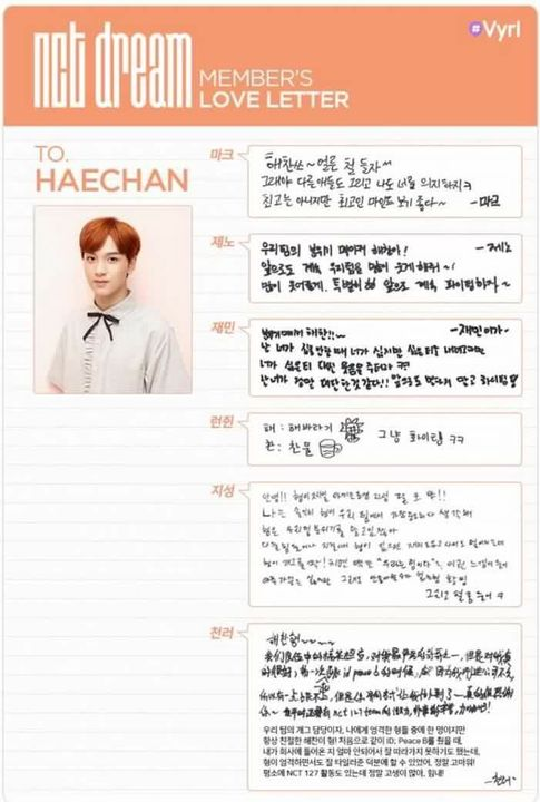 NCT | Neo Culture Technology - Diary - Identity Card - Haechan - Wattpad