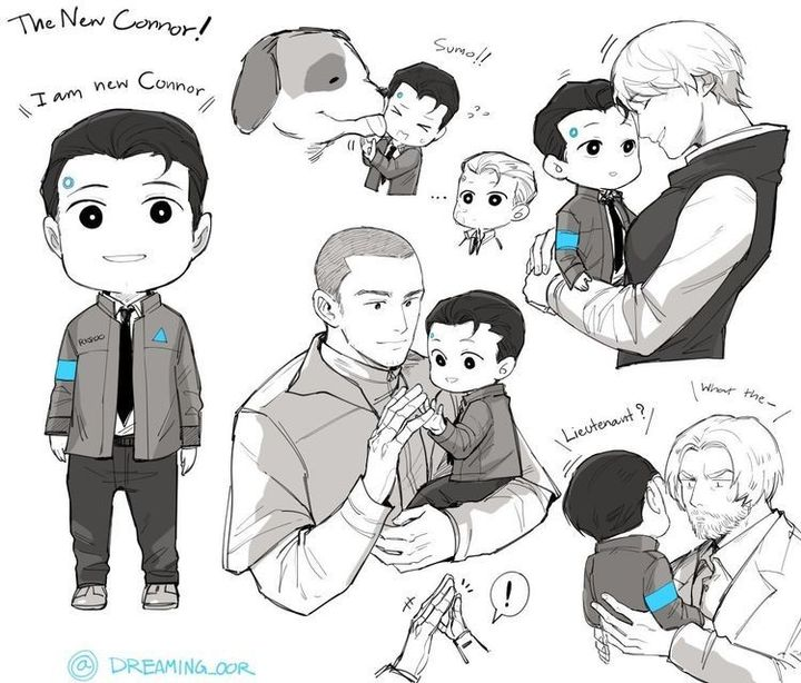 Detroit: Become Human X Male Reader Oneshots - Cute Connor