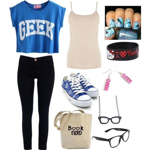 nerd outfit girl