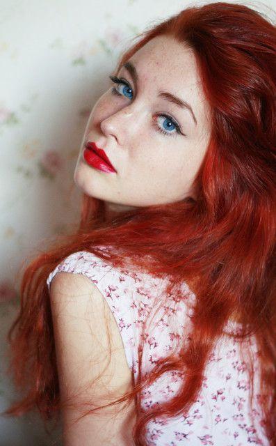 Ruby Quinn Blue eyesRed hairAge: 17