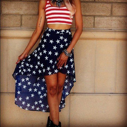 4) the girly skirt+crop top