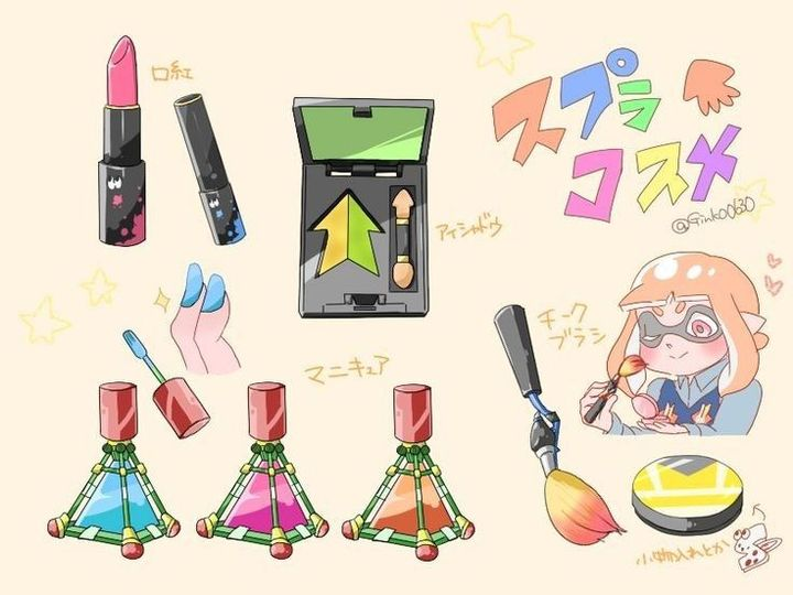 """""""Yup! That's my everyday makeup supplies! How did you guys think I made Steam cross dress sometimes?"""" Delly smiles and giggles mischievously"""