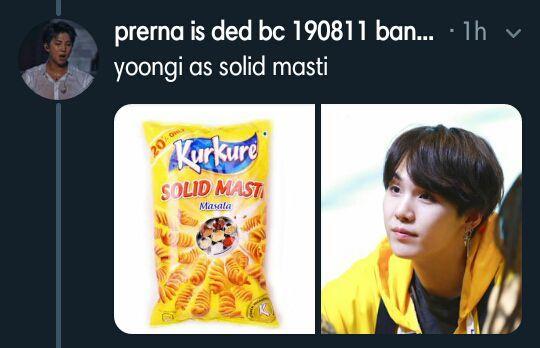 Yoongi as solid masti