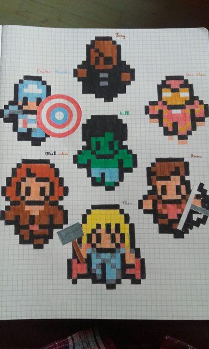Pixel Art Terminé Avengers Wattpad