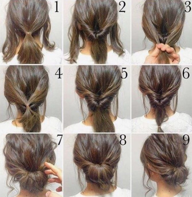 ^steps for the hairstyle above