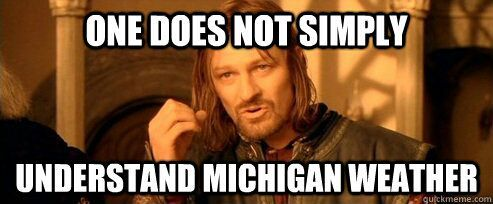 Image result for michigan weather meme