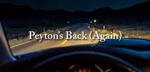 Peyton Bishop stood smiling on Daniel's porch, his hands shoved deep into the pockets of his slacks