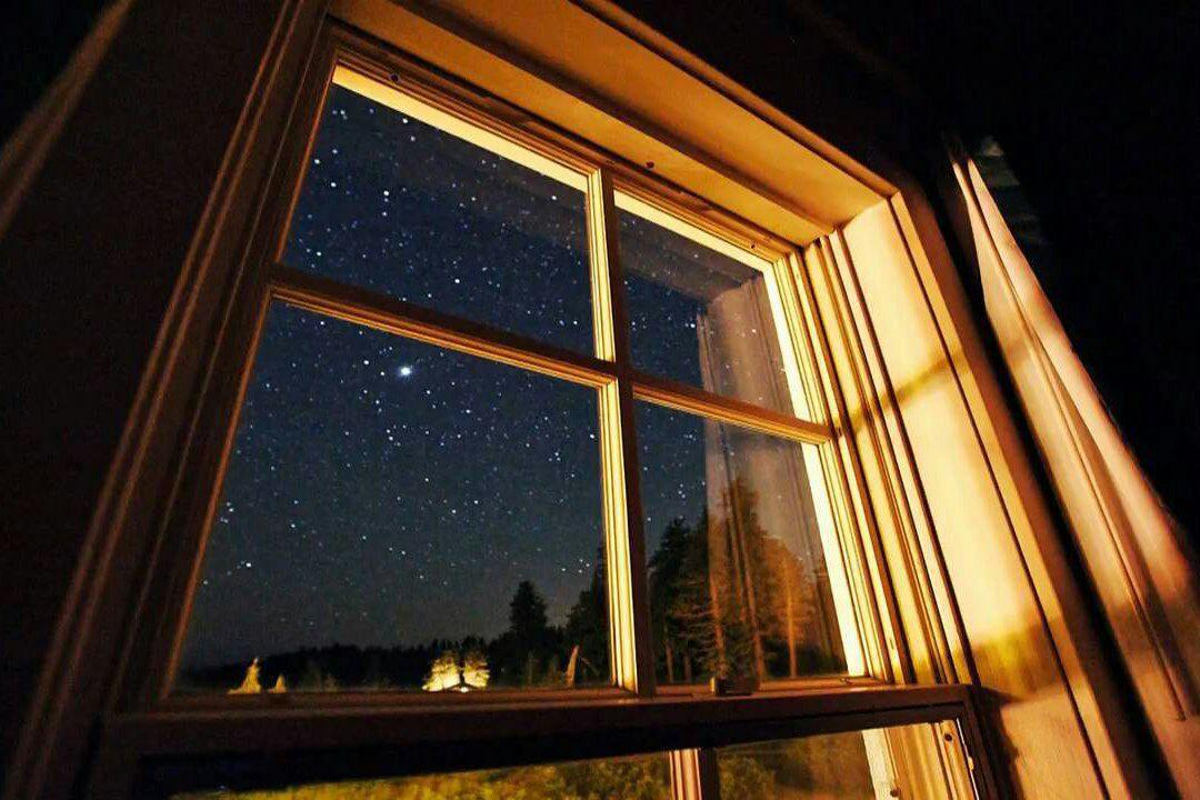 гифка ночь за окном