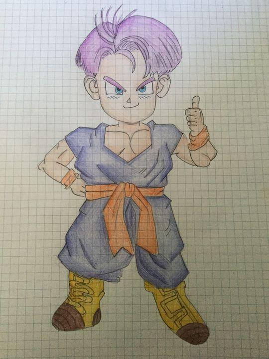 I Miei Disegni Di Dragon Ball Trunks Wattpad