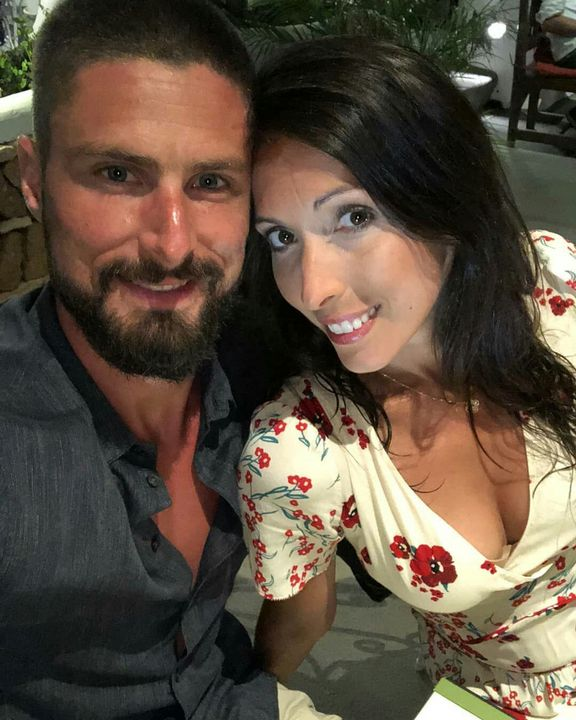 @oliviergiroud: Dinner time selfie with the missus