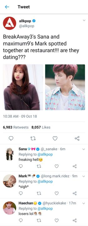 Mark dating sana