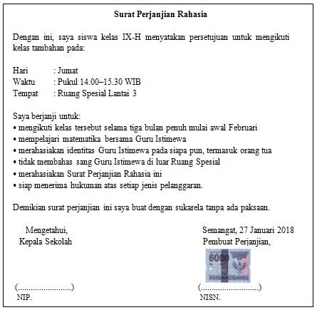 Math Class Tamat 1 Surat Perjanjian Rahasia Wattpad