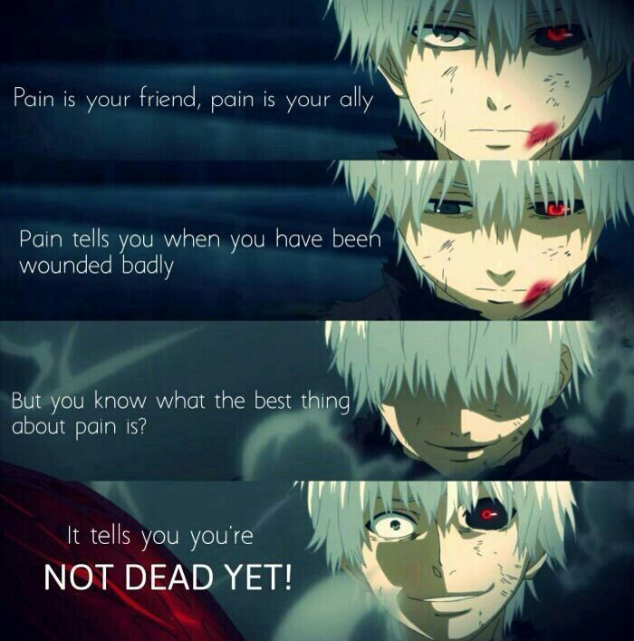 Anime Quotes - Pain is your friend - Wattpad