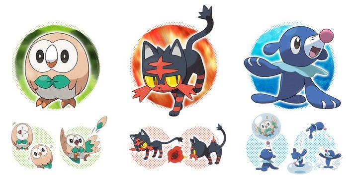 ~Si jamais tu joues à Pokémon,tu prendrais quels Starters dans Pokémon soleil ou lune?Alors les Pokémon de départ sont ces trois là!💁🏻