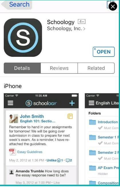 Download Schoology App on your smart phone or go to their website and sign up with this ACCESS CODE: (CLOSED)