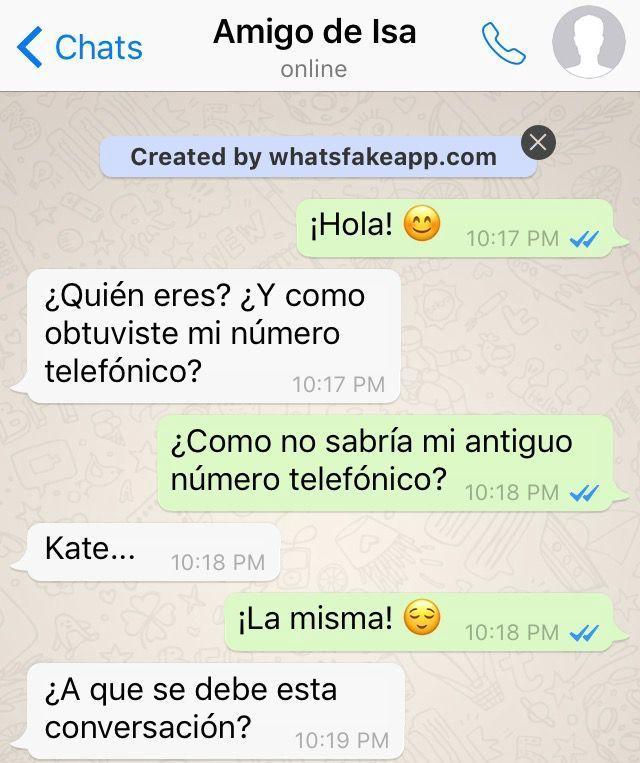"""Chat entre Kate y """"No es Kate"""""""