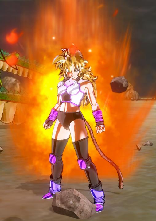 Super Saiyan God (in her new battle suit :3)