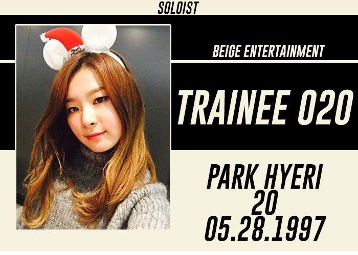 FULL NAME: Park HyeriSTAGE NAME: YerinNICKNAME: Yeri, Yen, HyeBIRTHDATE: May 28, 1997KOREAN AGE: 21HEIGHT: 161 cmWEIGHT: 44 kgHOMETOWN: Busan, South KoreaNATIONALITY: KoreanETHNICITY: Asian