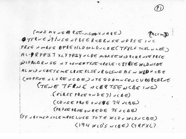 while the notes were initially kept from the public, the FBI now reopened the case and released the mysterious notes, in hopes that someone might be able to decode them