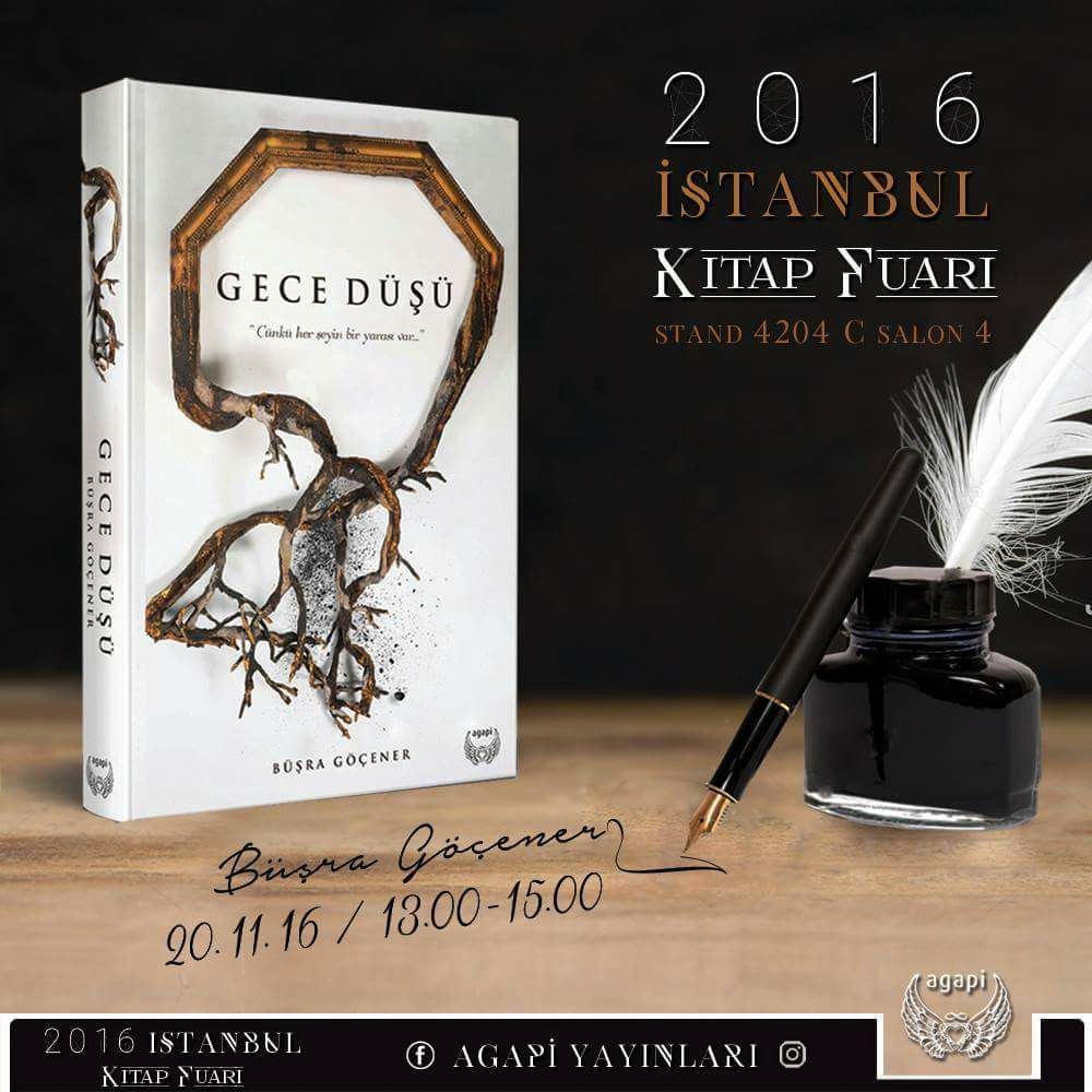 20 Kasım'da benim biricik ponçik Büşra Göçener'imin Gece Düşü kitabı için imza günü var!!!! 🙀🙀🙀😻😻😻