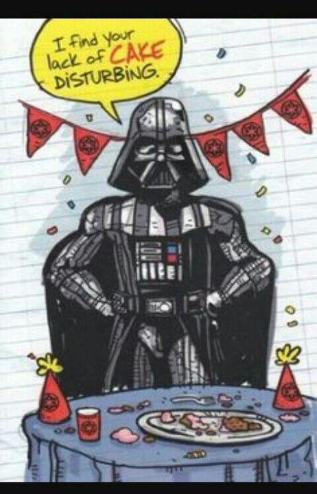 открытка с дарт вейдером с днем рождения это удлинение