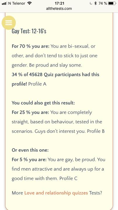 gay straight or bi quiz