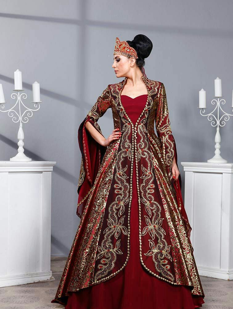 Robe de mariee turc ruban rouge