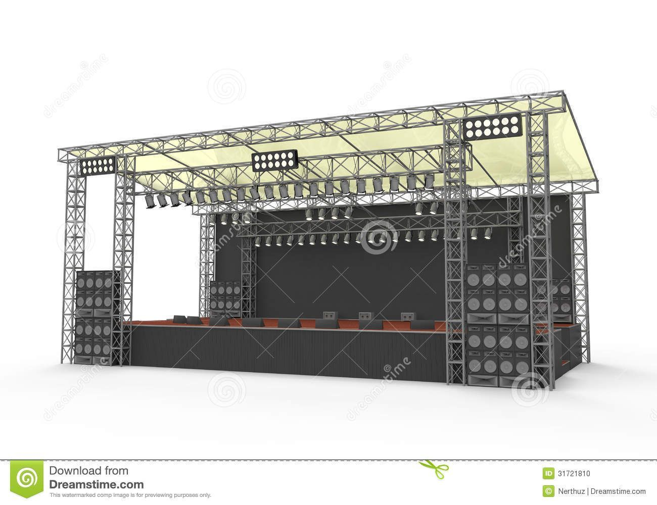 A stage was set up and it looked AWESOME!