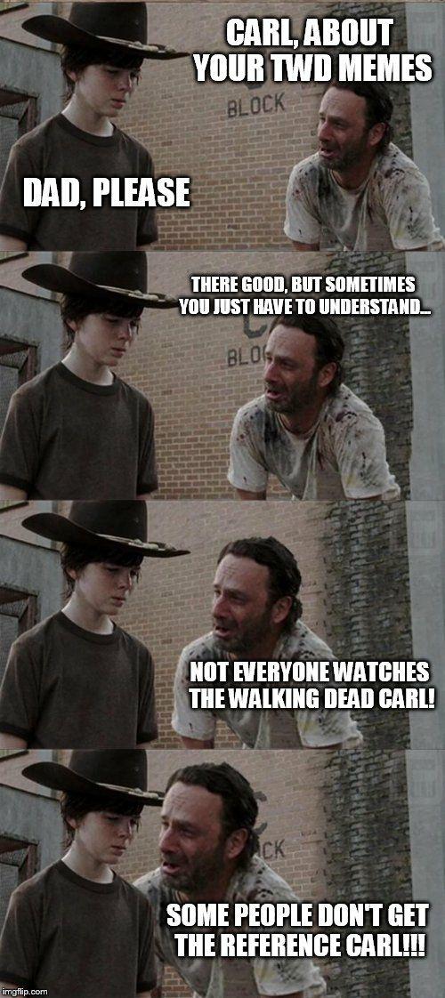 The Walking Dead Memes Memes 8 Carl Rick Wattpad